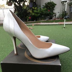White Enzo Angiolini heels